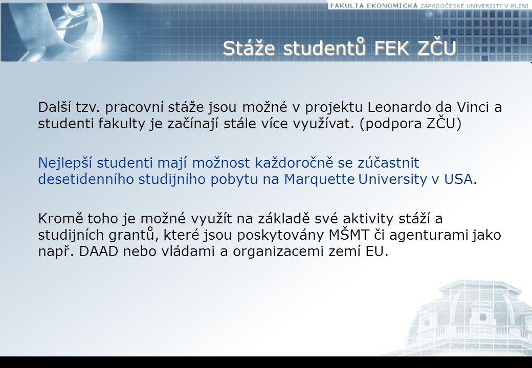 Stáže studentů FEK ZČU