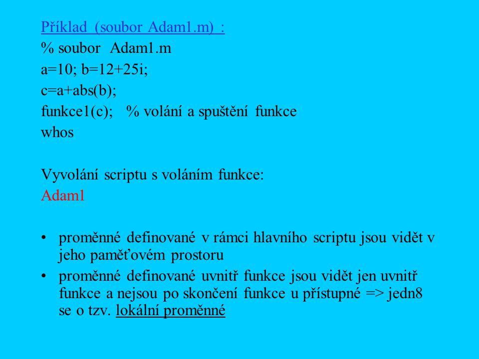 Příklad (soubor Adam1.m) :