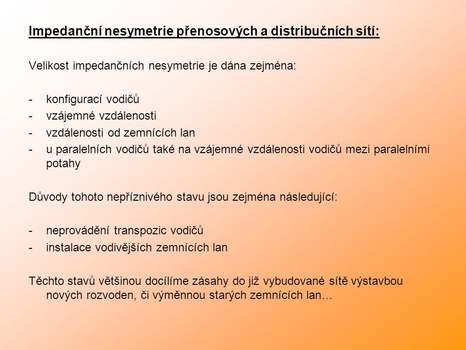 Impedanční nesymetrie přenosových a distribučních sítí: