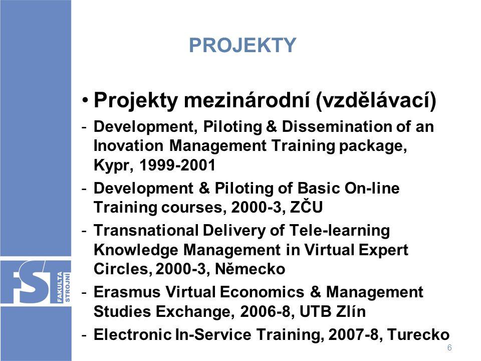 Projekty mezinárodní (vzdělávací)