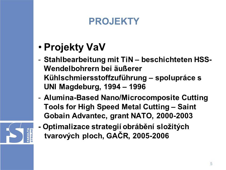 PROJEKTY Projekty VaV.