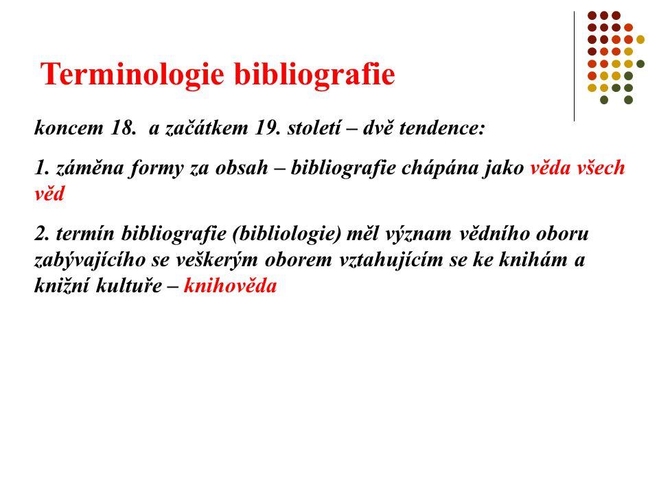 Terminologie bibliografie