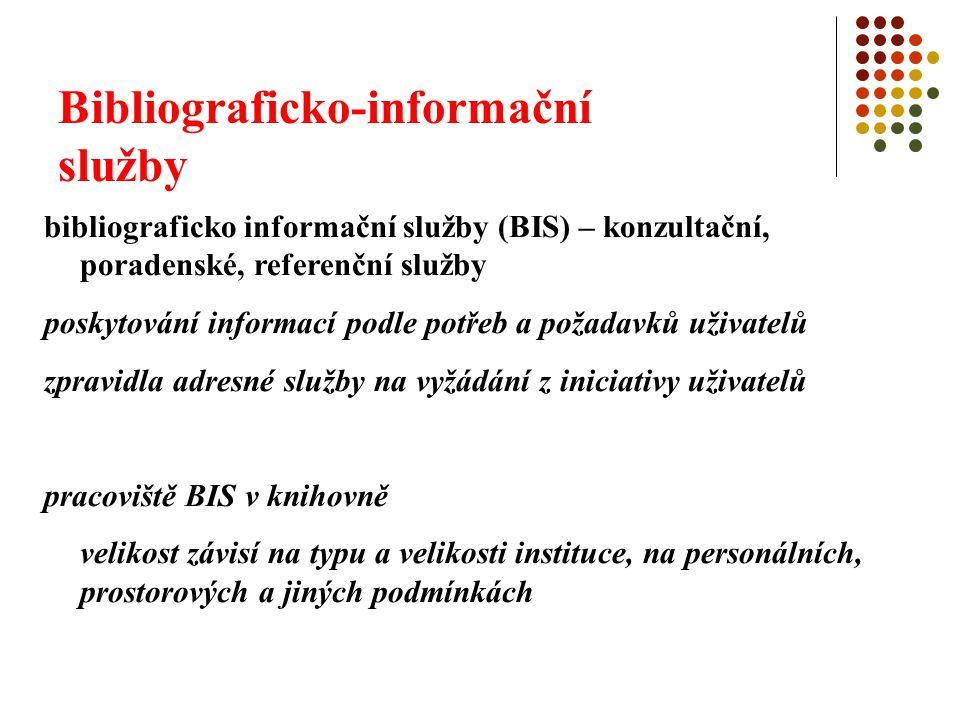 Bibliograficko-informační služby