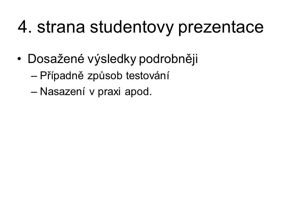 4. strana studentovy prezentace