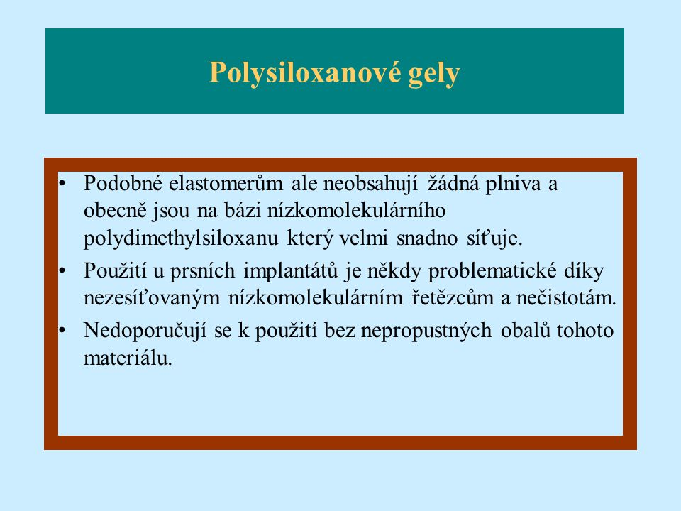 Polysiloxanové gely