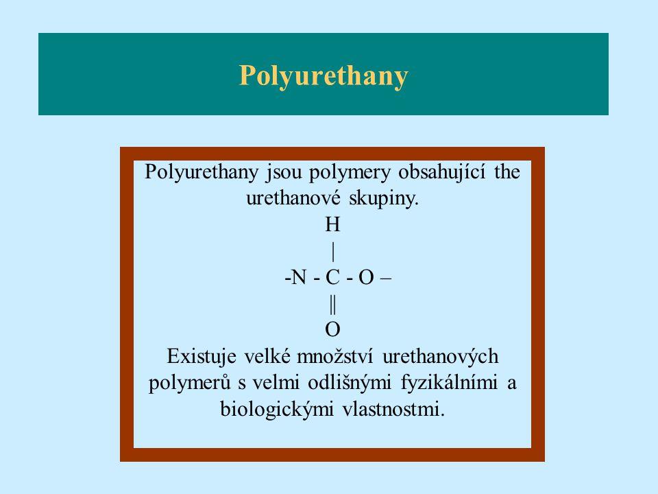 Polyurethany jsou polymery obsahující the urethanové skupiny.