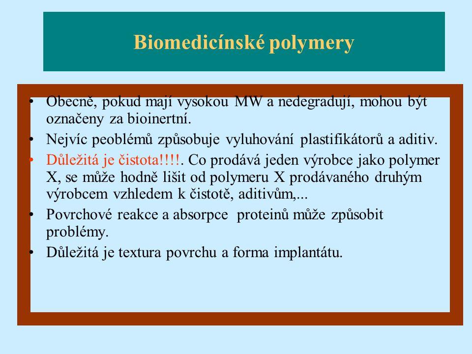 Biomedicínské polymery