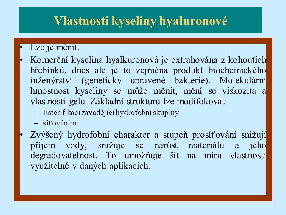 Vlastnosti kyseliny hyaluronové
