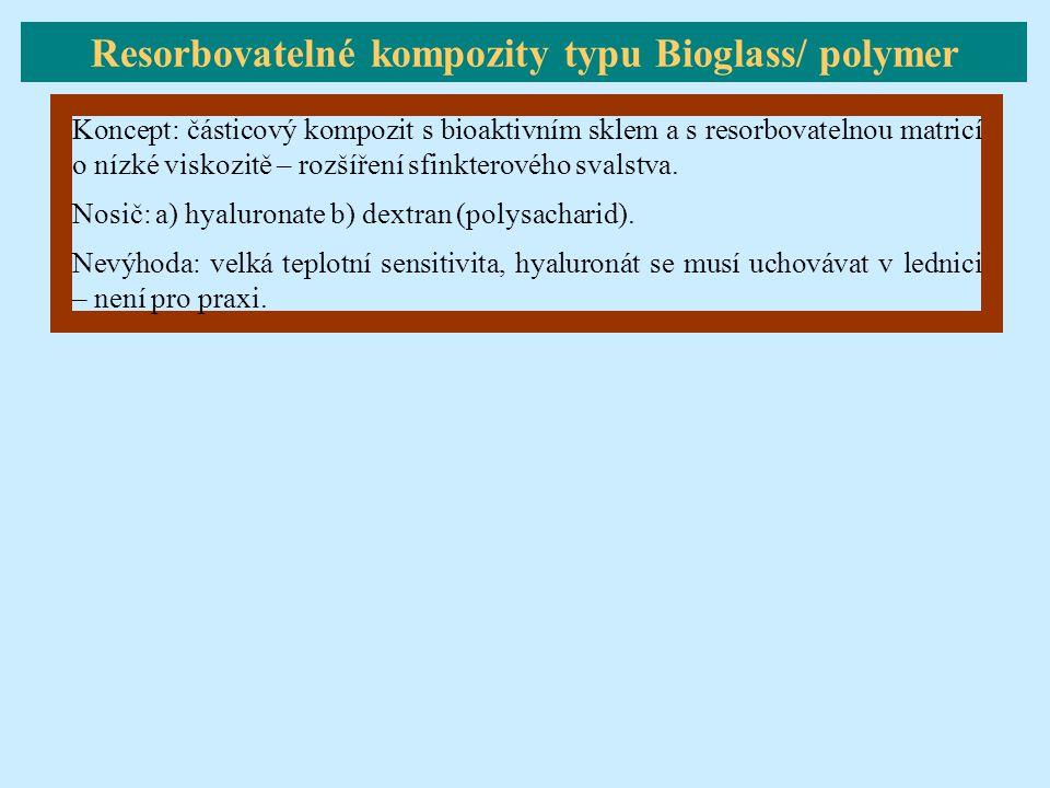 Resorbovatelné kompozity typu Bioglass/ polymer