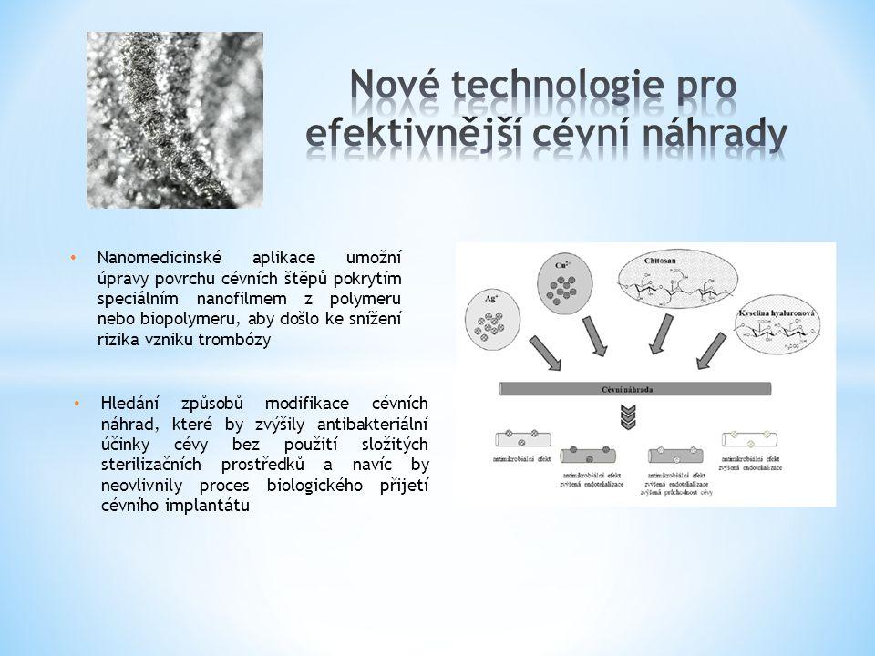 Nové technologie pro efektivnější cévní náhrady