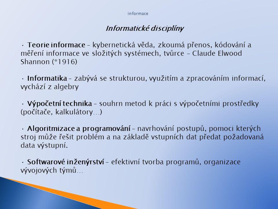 Informatické disciplíny