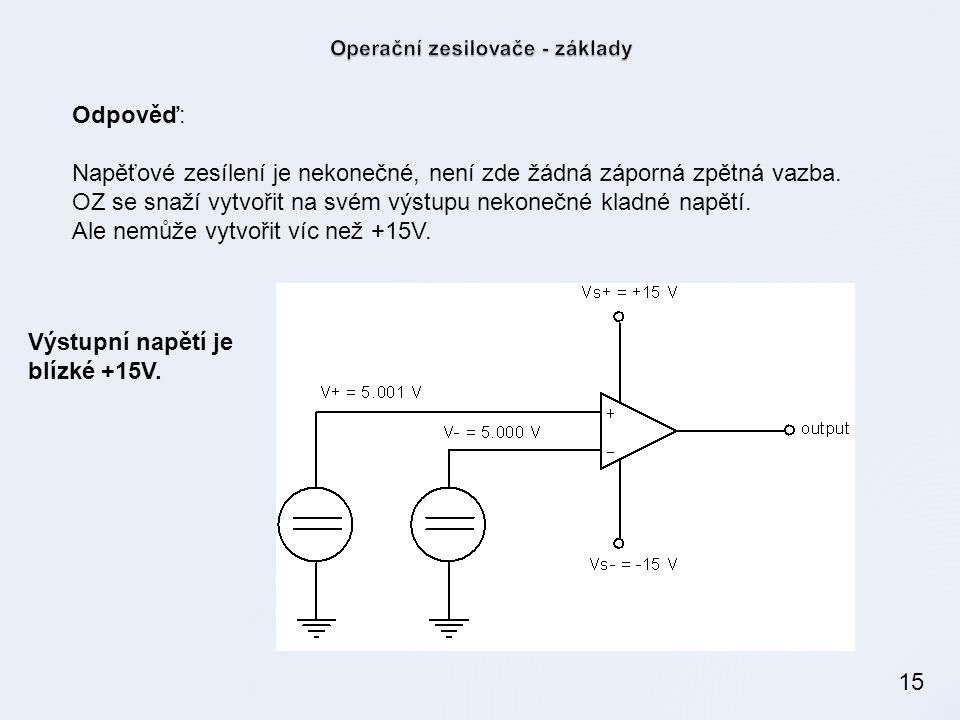 Operační zesilovače - základy