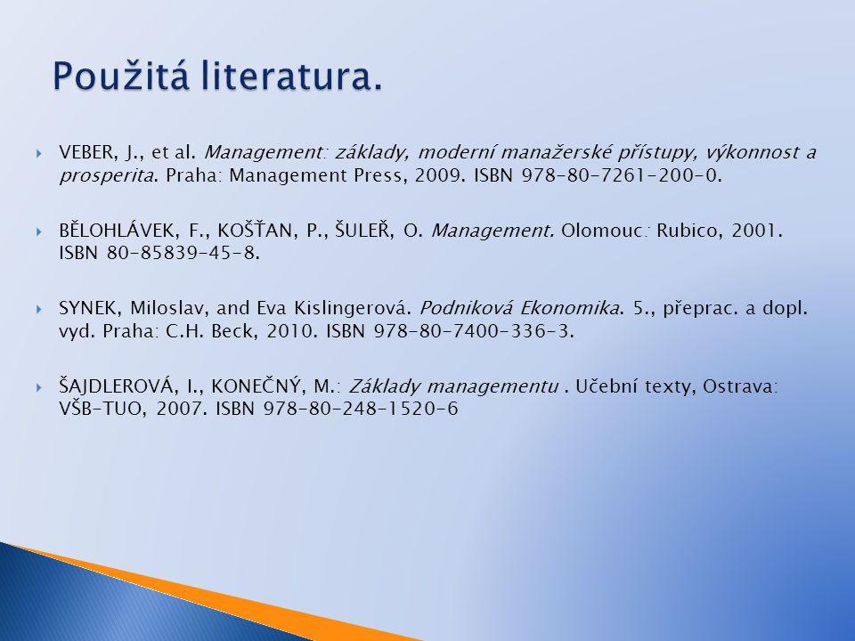 Použitá literatura.