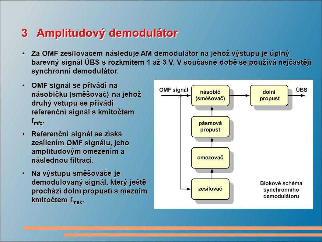 3 Amplitudový demodulátor