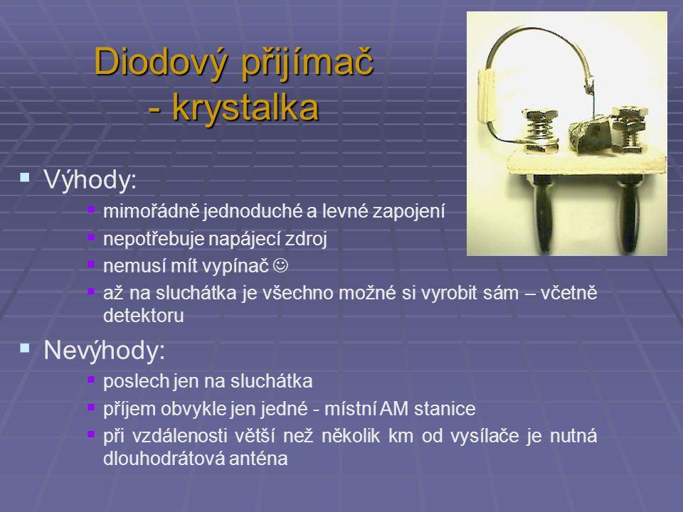 Diodový přijímač - krystalka