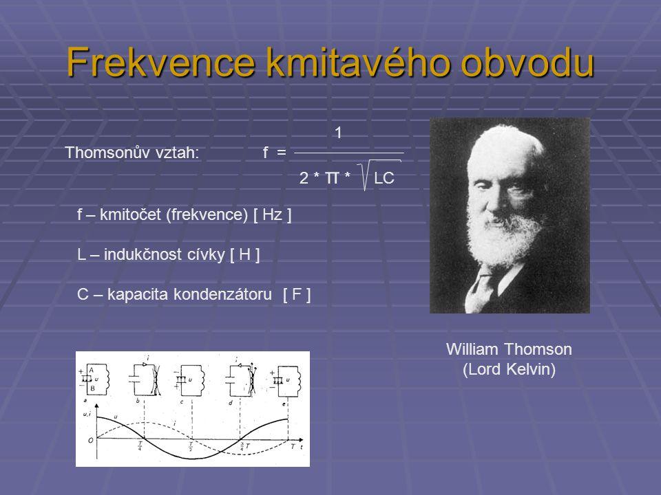 Frekvence kmitavého obvodu