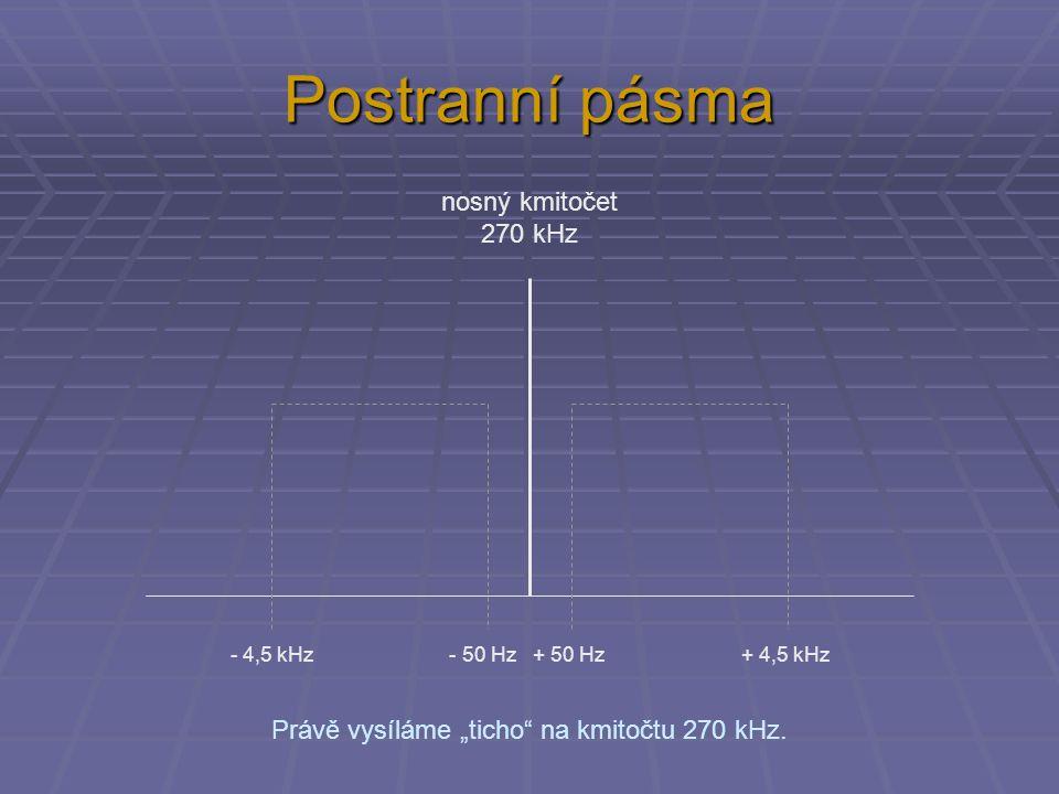 """Právě vysíláme """"ticho na kmitočtu 270 kHz."""