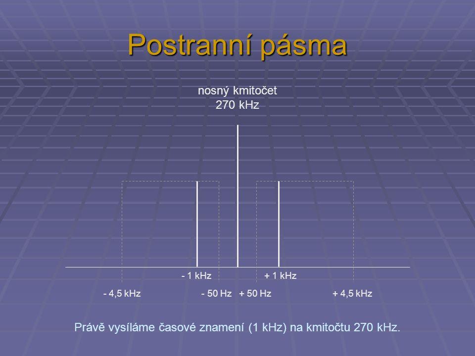 Právě vysíláme časové znamení (1 kHz) na kmitočtu 270 kHz.