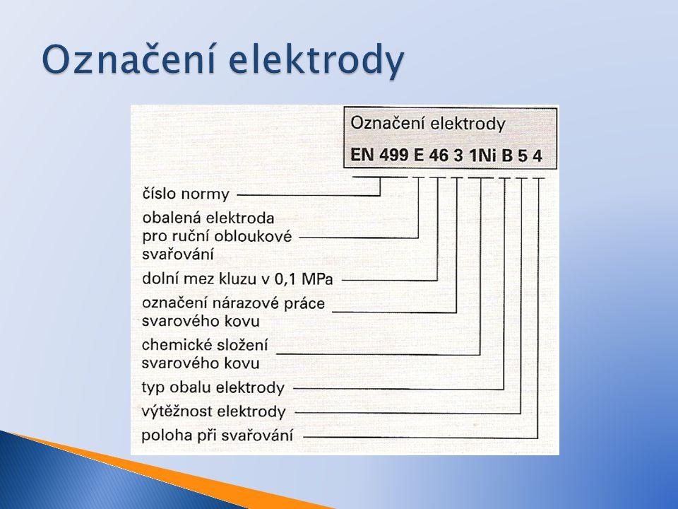 Označení elektrody