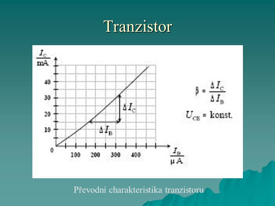 Převodní charakteristika tranzistoru