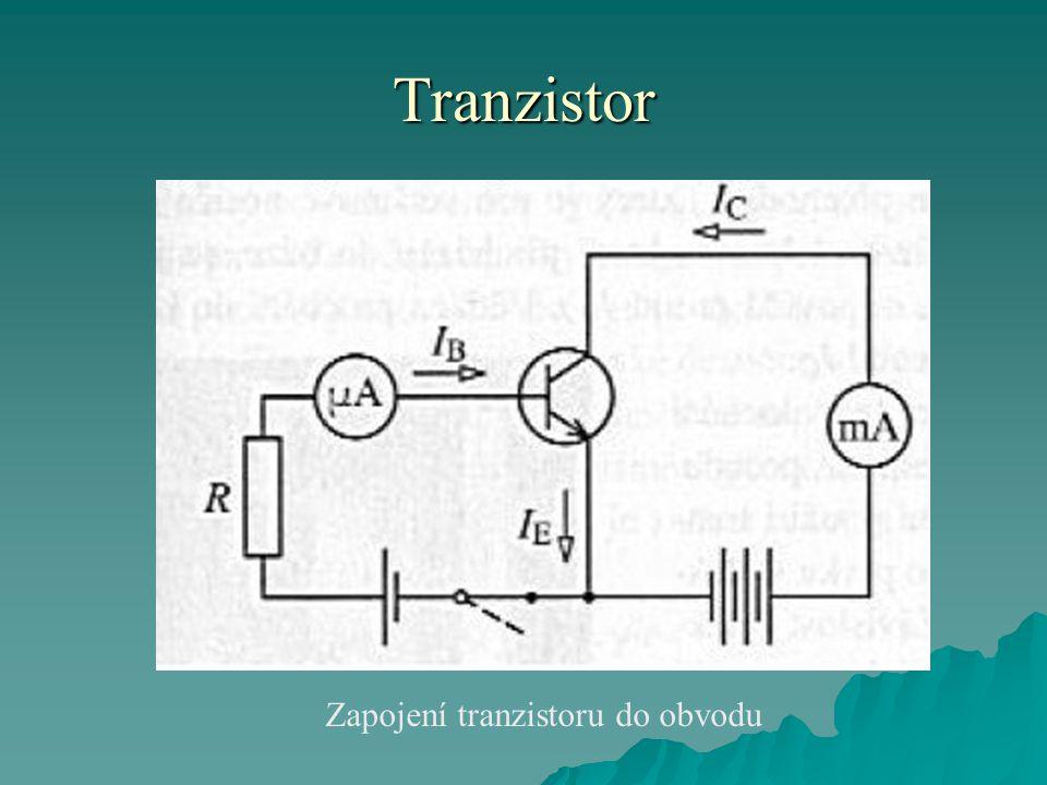 Zapojení tranzistoru do obvodu