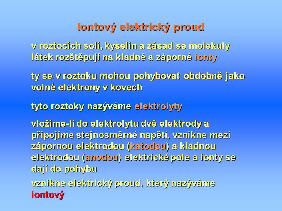 Iontový elektrický proud