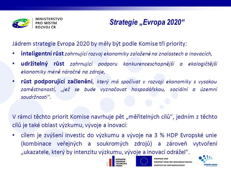 """Strategie """"Evropa 2020 Jádrem strategie Evropa 2020 by měly být podle Komise tři priority:"""