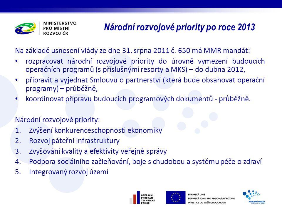 Národní rozvojové priority po roce 2013