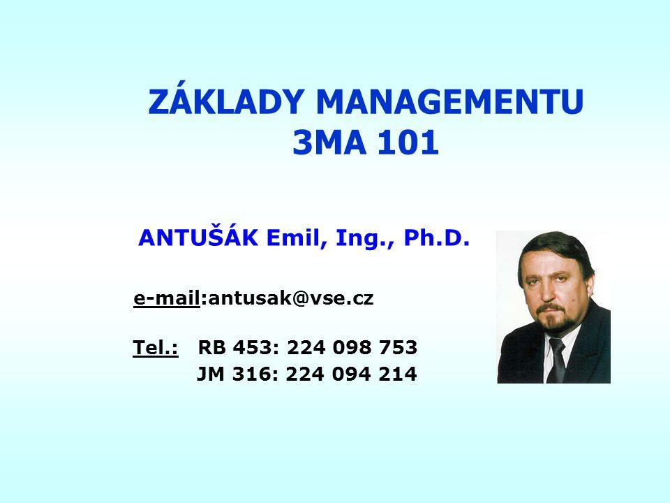 ZÁKLADY MANAGEMENTU 3MA 101