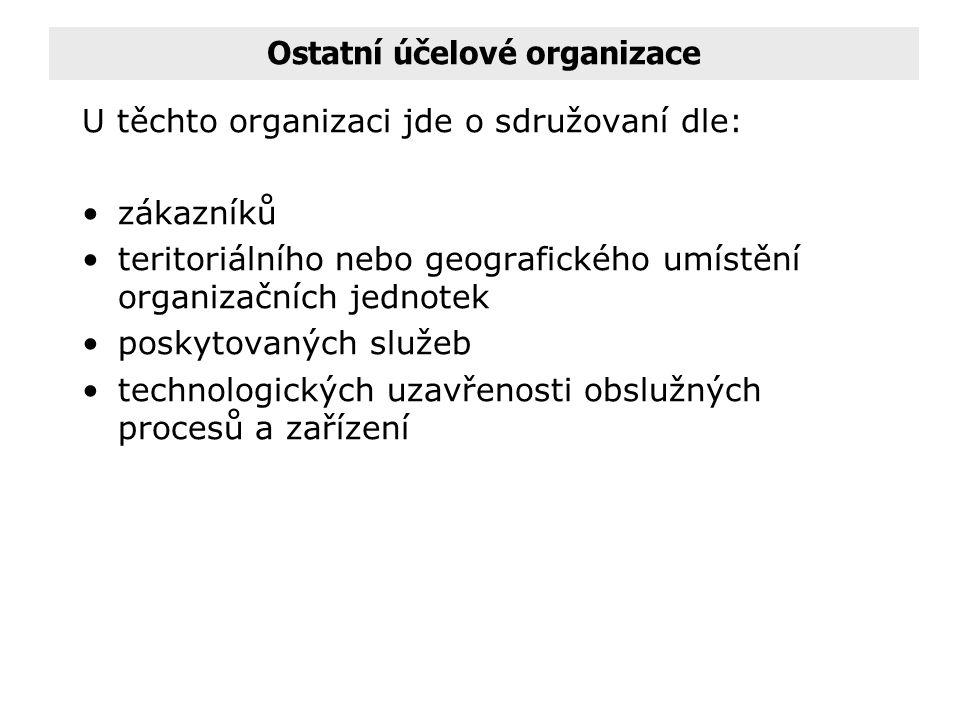 Ostatní účelové organizace