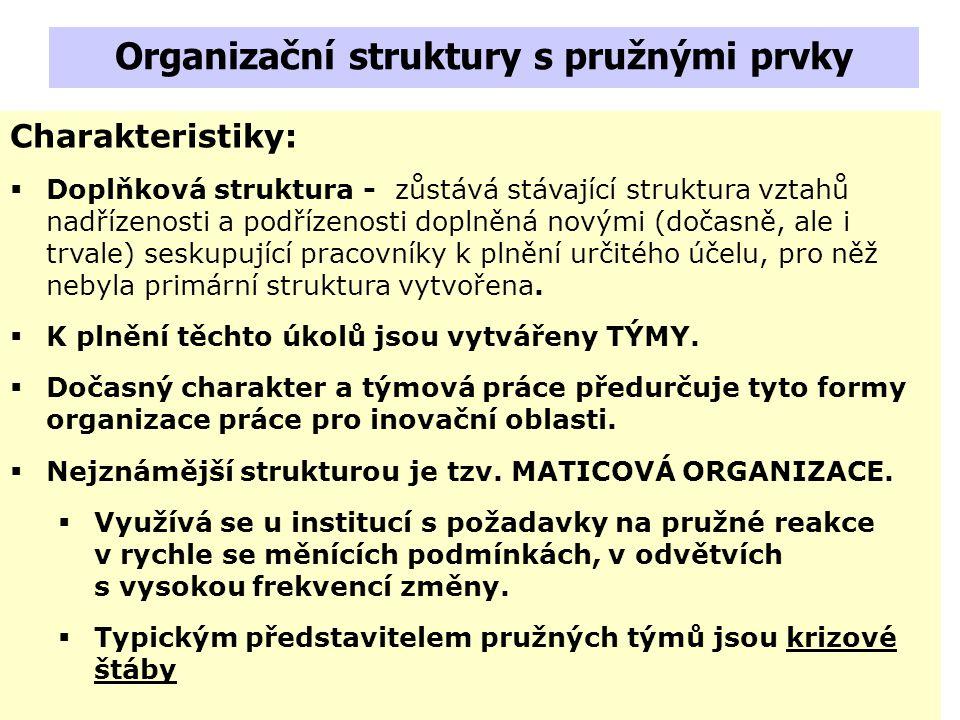 Organizační struktury s pružnými prvky