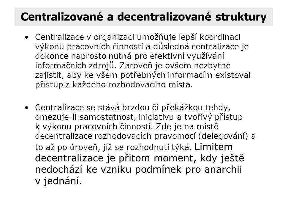 Centralizované a decentralizované struktury
