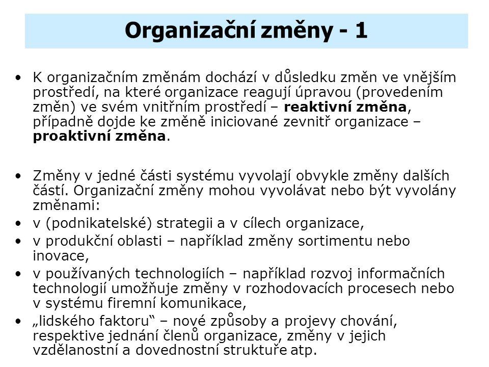 Organizační změny - 1
