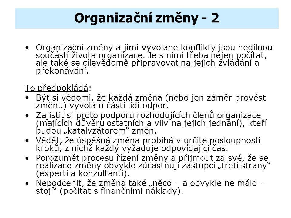 Organizační změny - 2