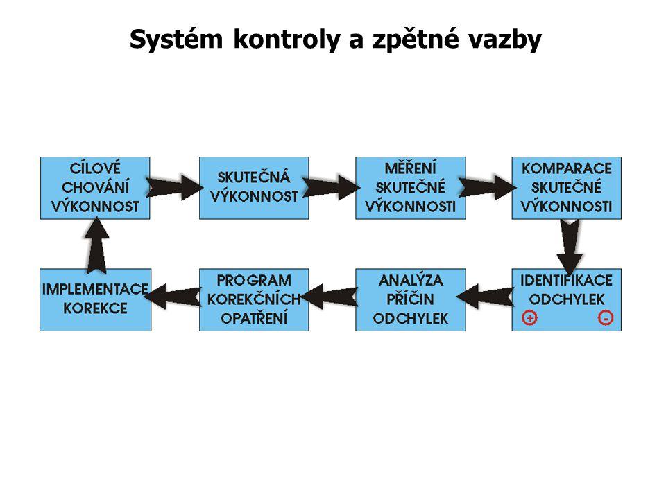 Systém kontroly a zpětné vazby