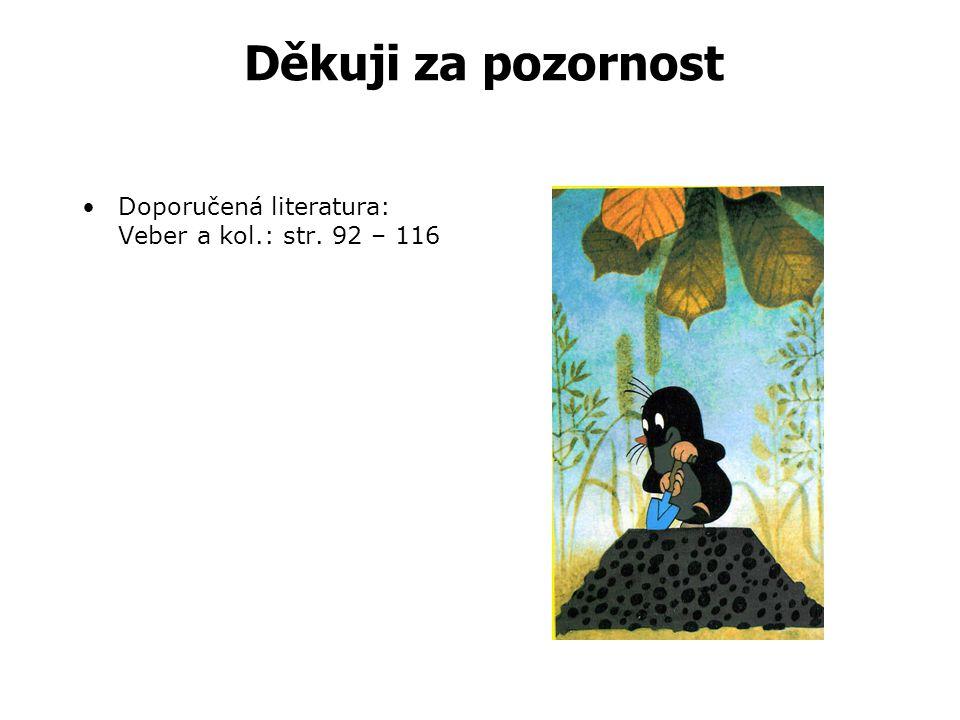 Děkuji za pozornost Doporučená literatura: Veber a kol.: str. 92 – 116