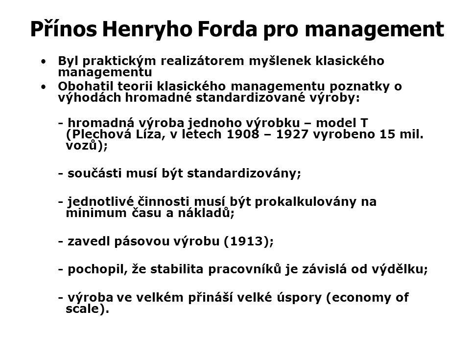 Přínos Henryho Forda pro management