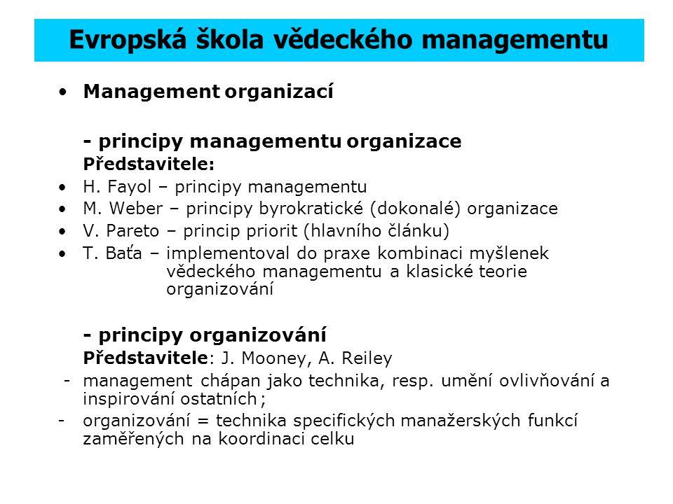 Evropská škola vědeckého managementu