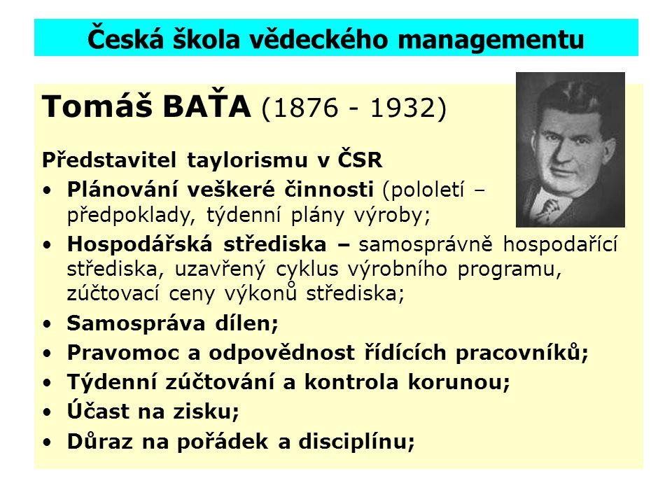 Česká škola vědeckého managementu