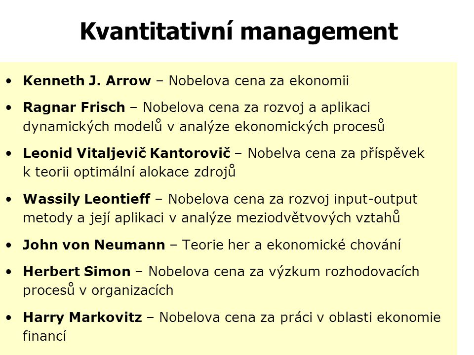 Kvantitativní management