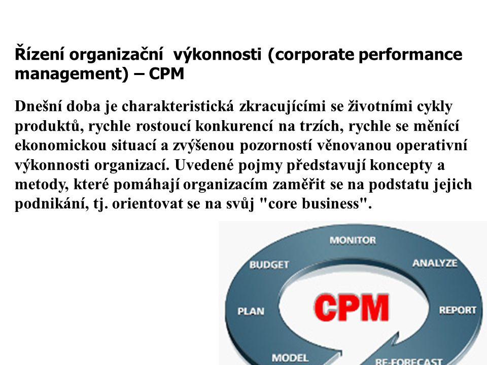 Řízení organizační výkonnosti (corporate performance management) – CPM