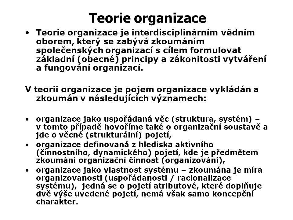 Teorie organizace