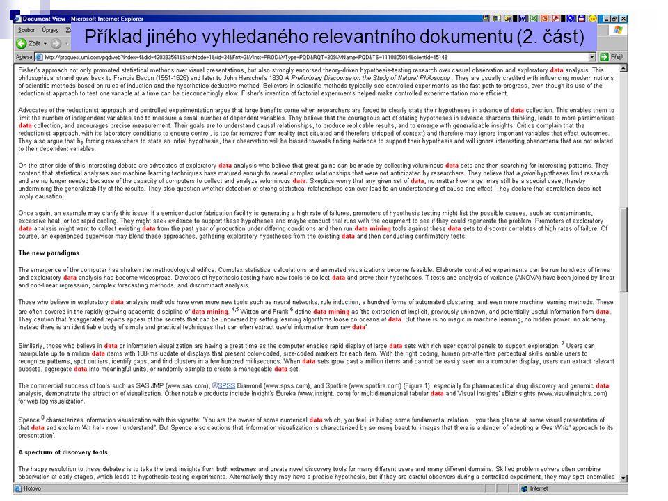 Příklad jiného vyhledaného relevantního dokumentu (2. část)