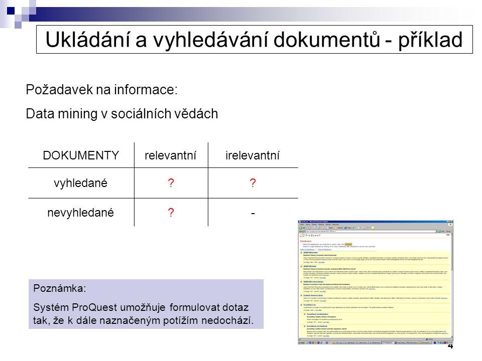 Ukládání a vyhledávání dokumentů - příklad