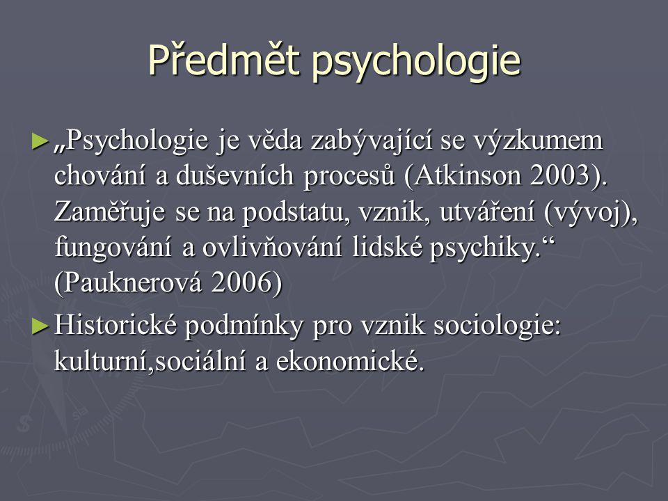 Předmět psychologie