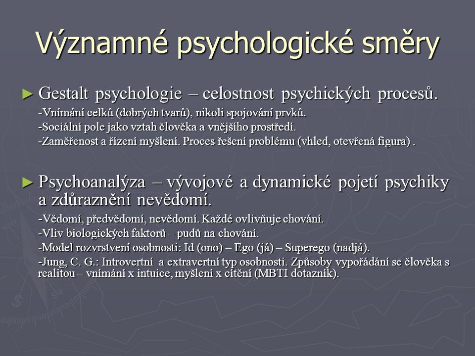Významné psychologické směry