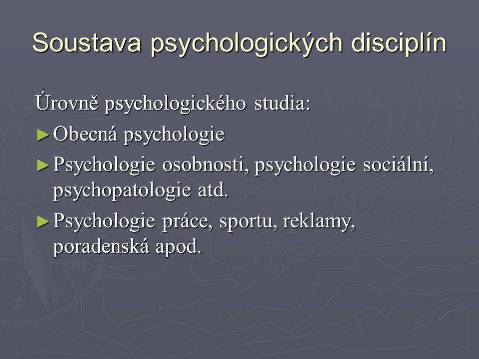 Soustava psychologických disciplín