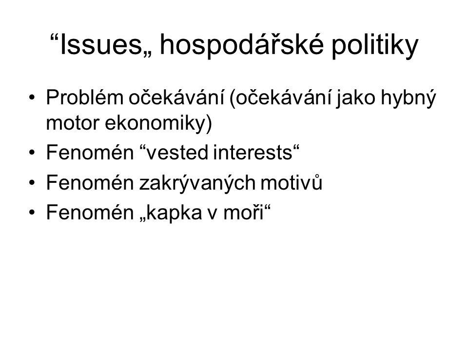 """Issues"""" hospodářské politiky"""