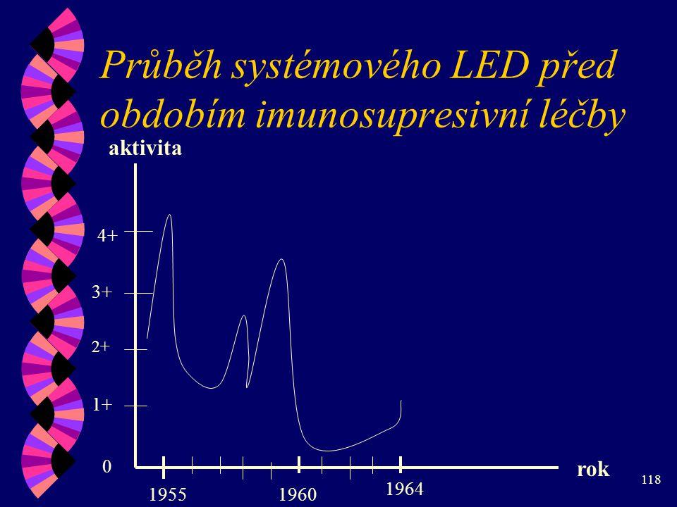 Průběh systémového LED před obdobím imunosupresivní léčby