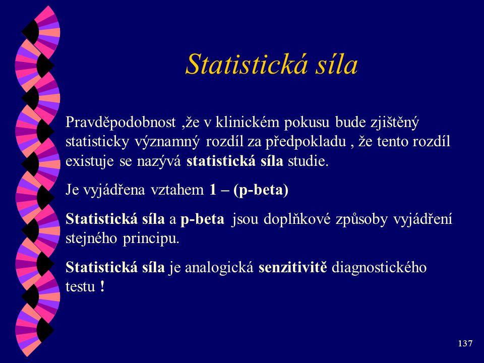 Statistická síla